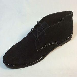 Bernardo women chukka boots suede black Sz. 10 NEW